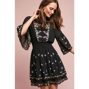 Anthropologie Maeve Anfisa Tunic Dress Embroidered